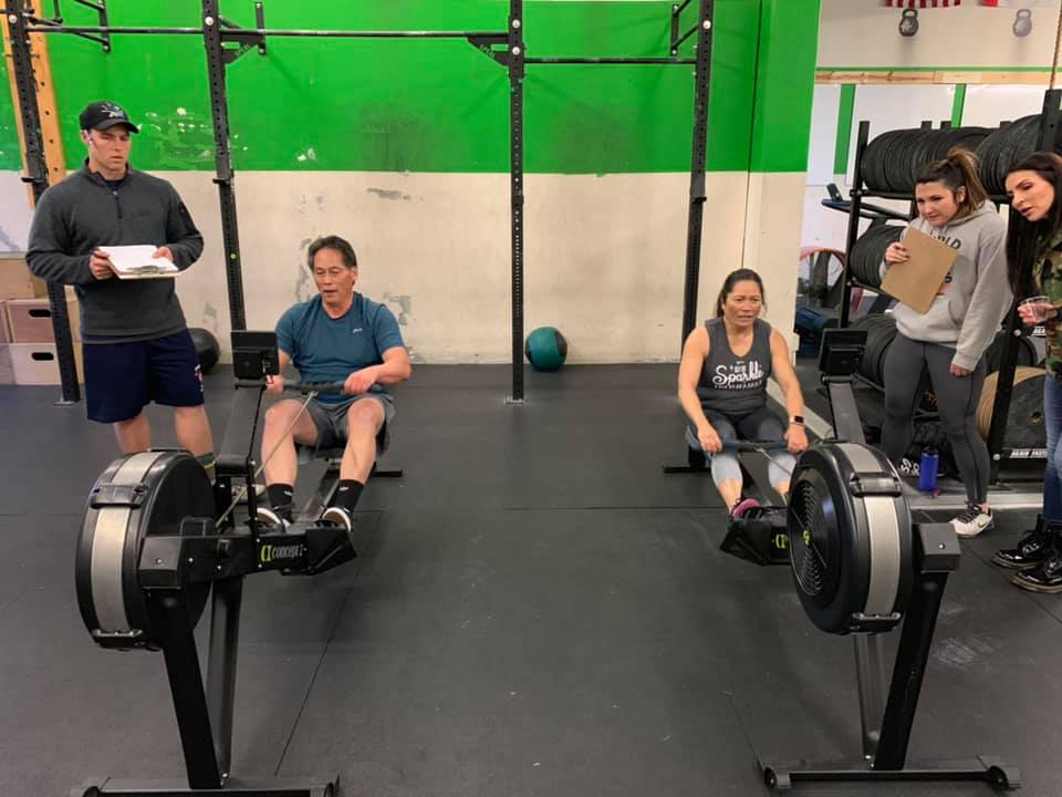 Paul and Sandy getting after 19.1!