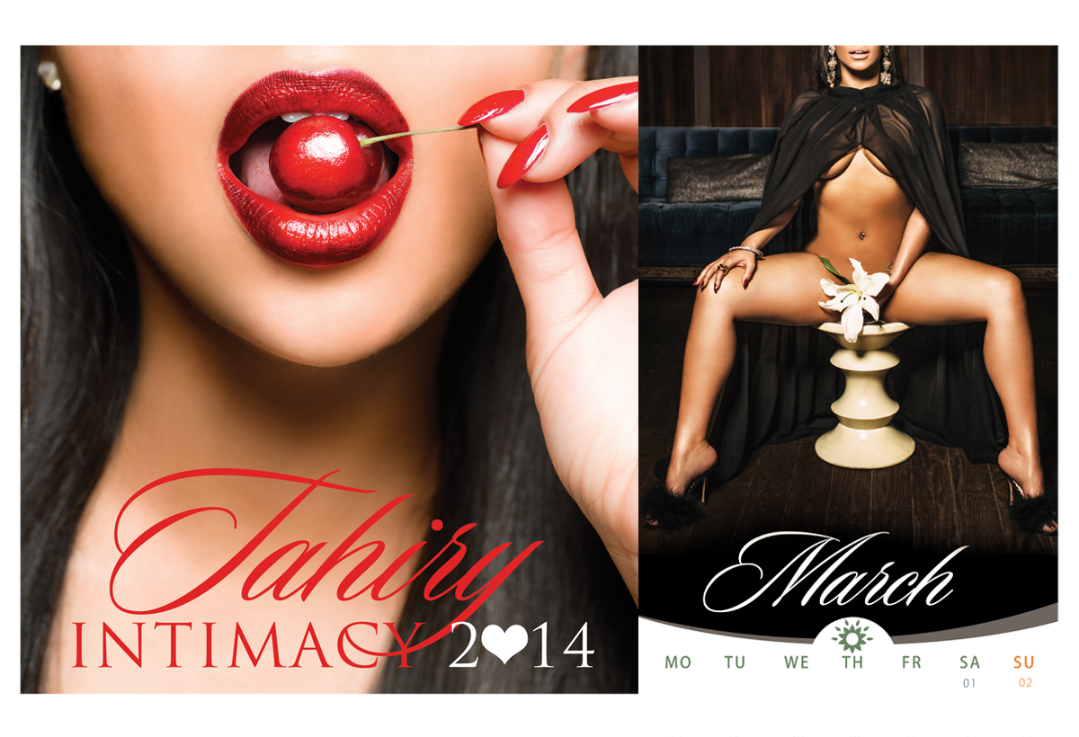 "jodi jones photographs Tahiry Jose for her 2014 ""Intimacy"" Calendar and posters."