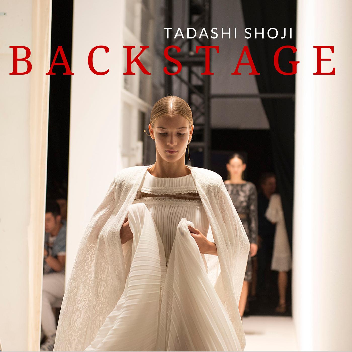 Tadashi Shoji backstage spring 2015