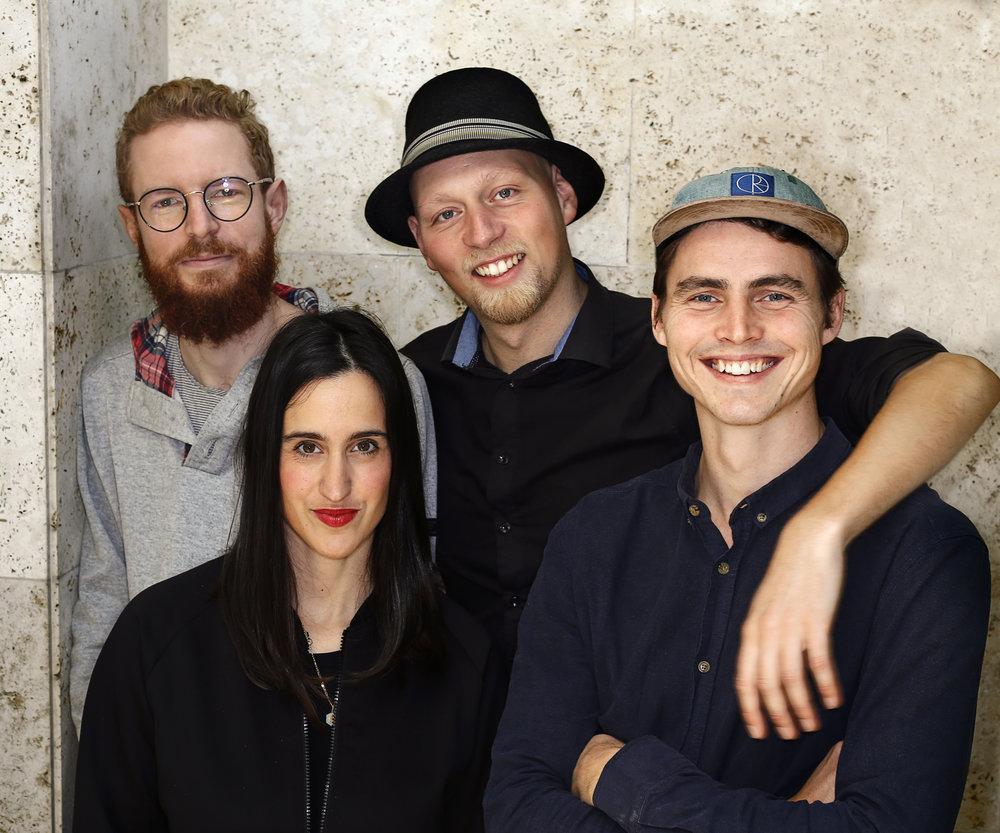 Stifterne af Villa Kultur. Fra venstre Jonas og Anastasia fra Bite Me, Hakon og Jonathan fra Forvandlende Fortællinger