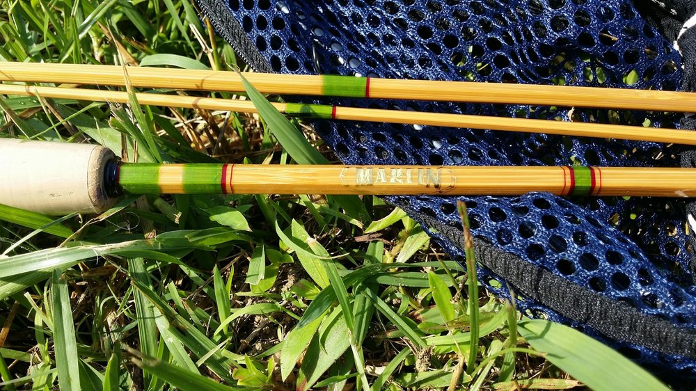 "7'-6"" 4wt. 3 pc blonde rod with an extra butterflied tip"