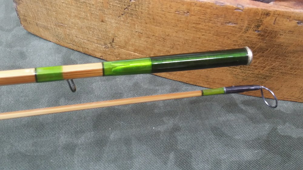 "7'-9""  5 wt.  2 toned and 2 pc. showing crowned ferrule"