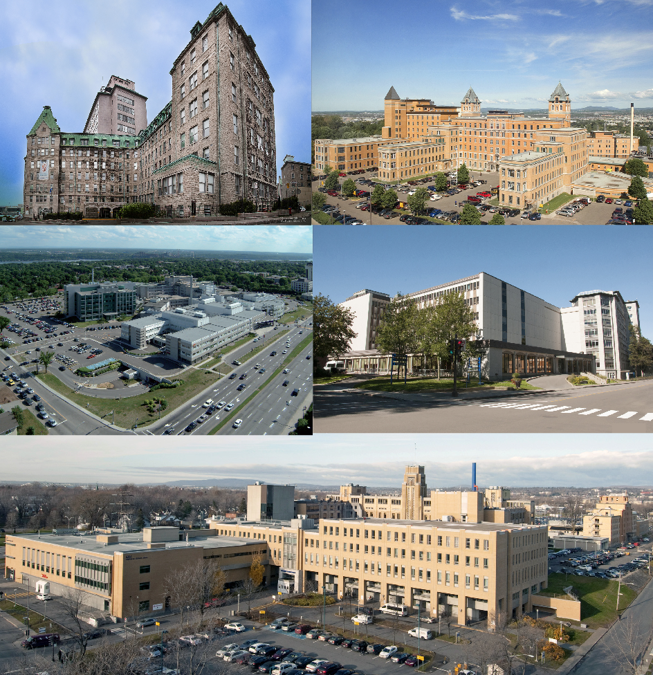 The five hospital sites of CHU.