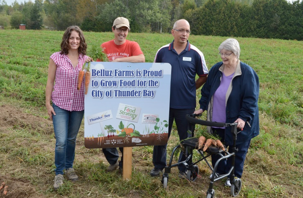 Caption: Successful Food Partnership between City Thunder Bay, Long Term Care and Regional Producer Belluz Farms