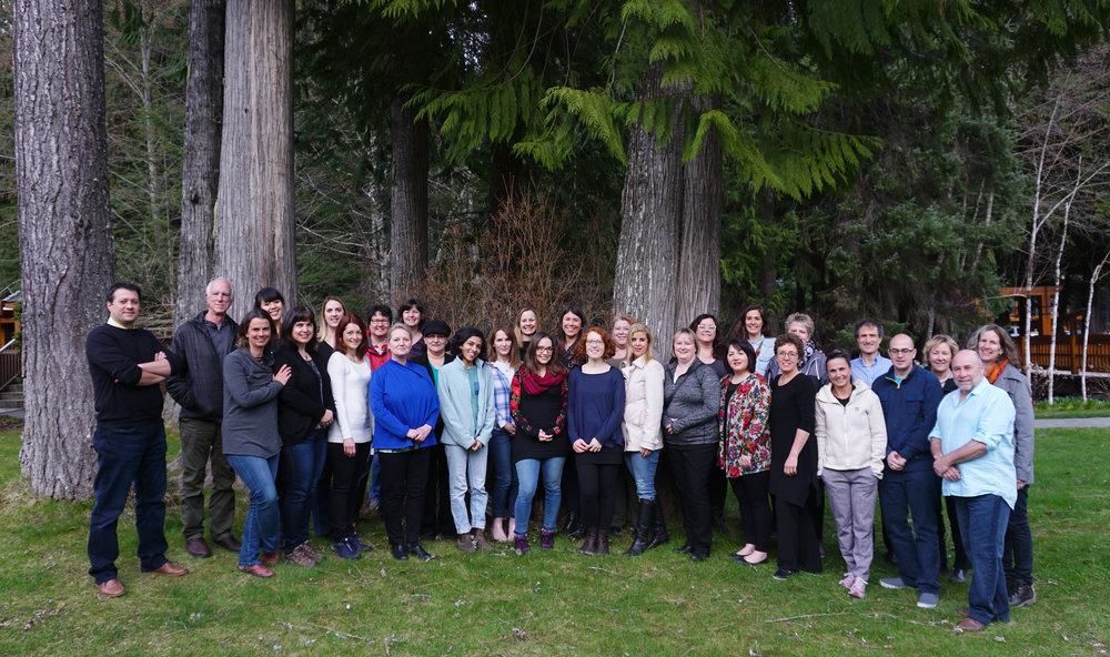 Les innovateurs, conseillers et membres de l'équipe de Nourrir la santé se sont réunis sur le territoire des Salish de la côte, en Colombie-Britannique.