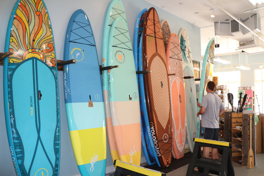 Activities & Beach Rentals   YOLO board, bike, chair & umbrella rentals along with sundries all available in Town Center.
