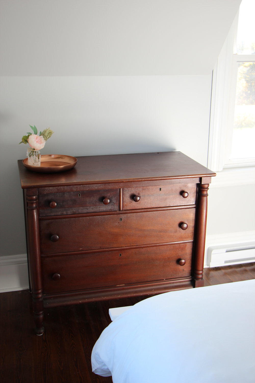 Antique furnishings transport you back in time