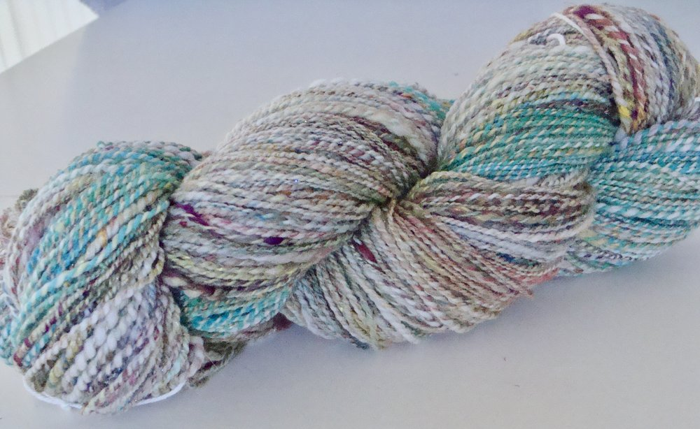 Fairy Salad handspun 2 ply yarn