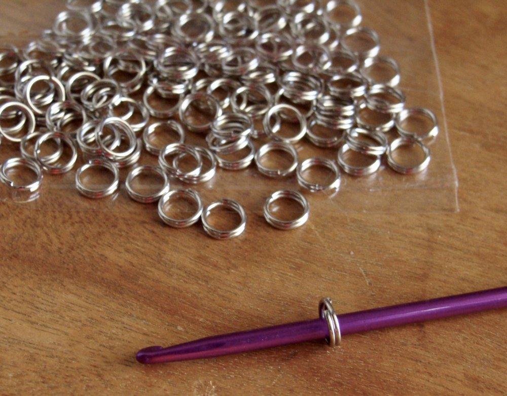 "1/4"" split rings"
