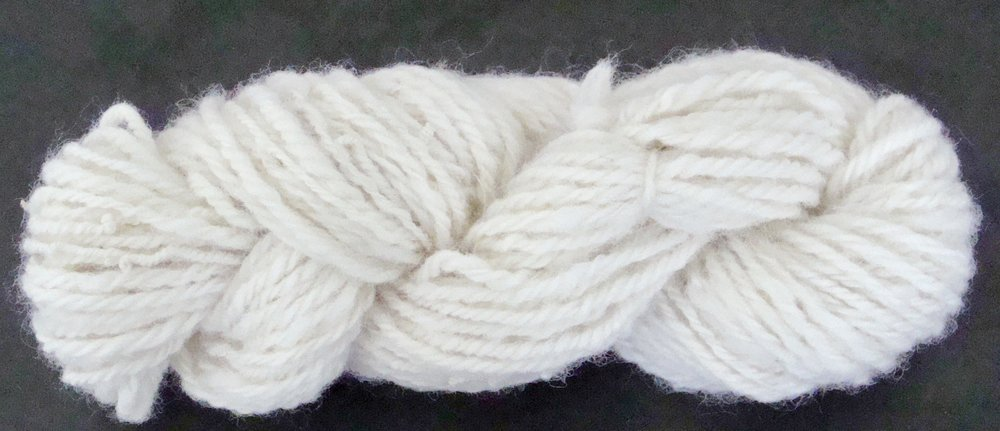 BFL handspun chain-plied yarn, finished