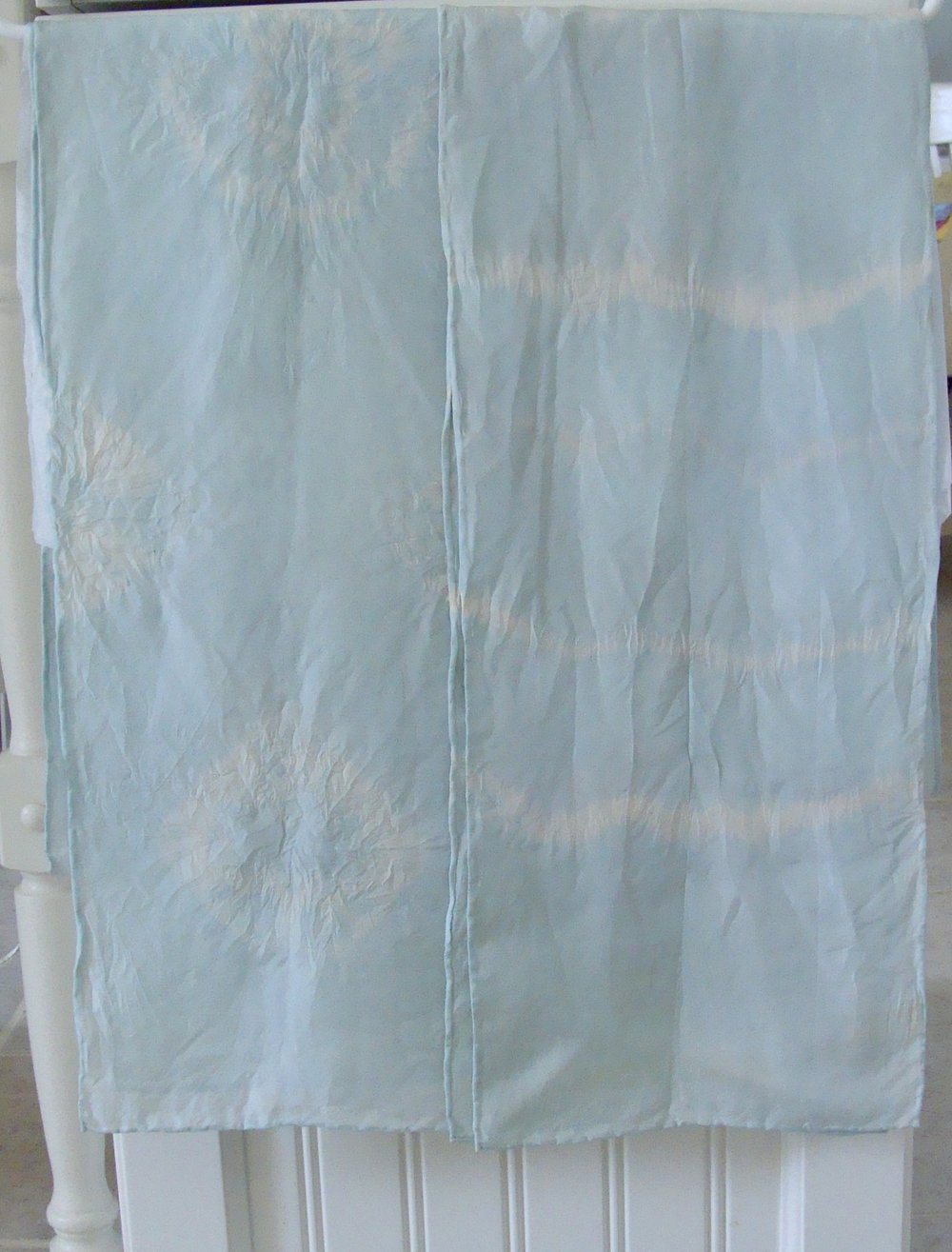 saxon blue natural dyed silk scarves