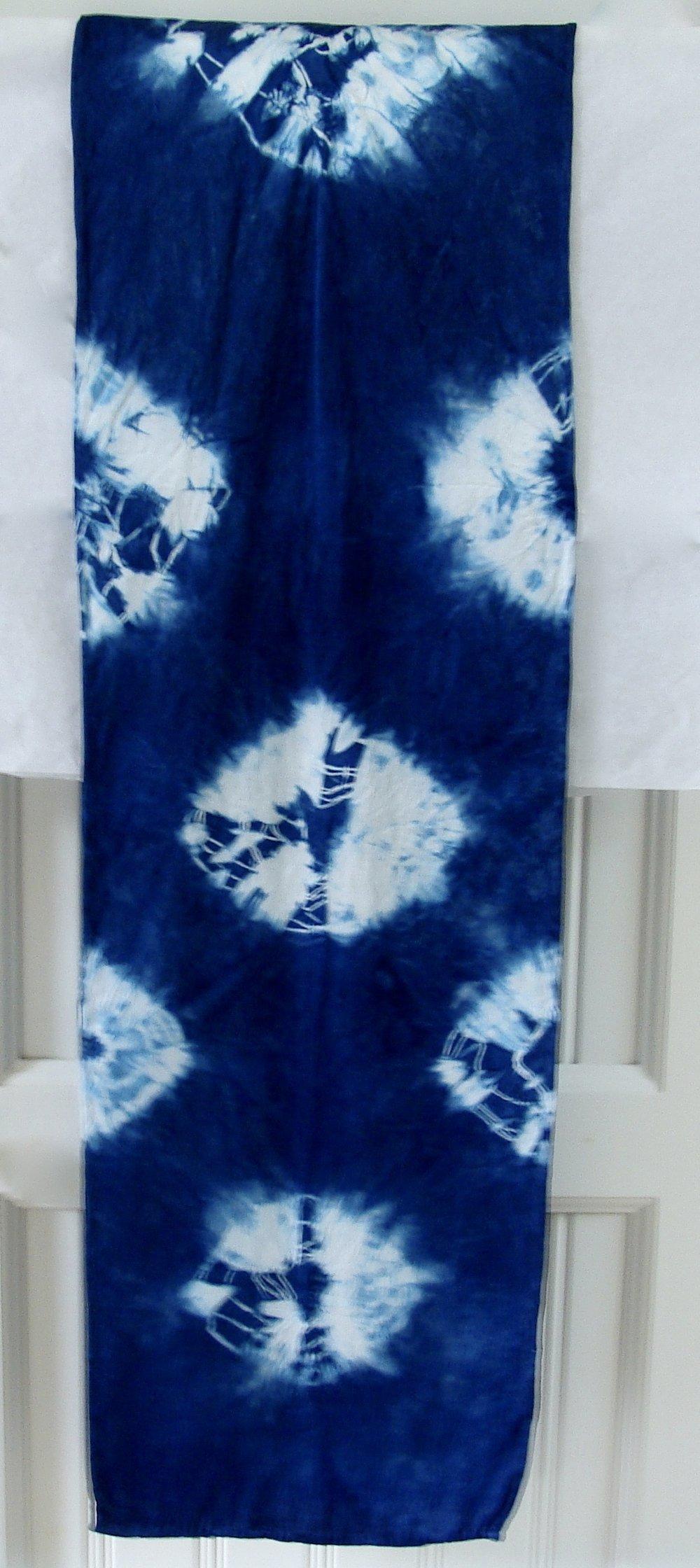 Kumo Shibori - Hand Dyed Charmeuse Silk Scarf