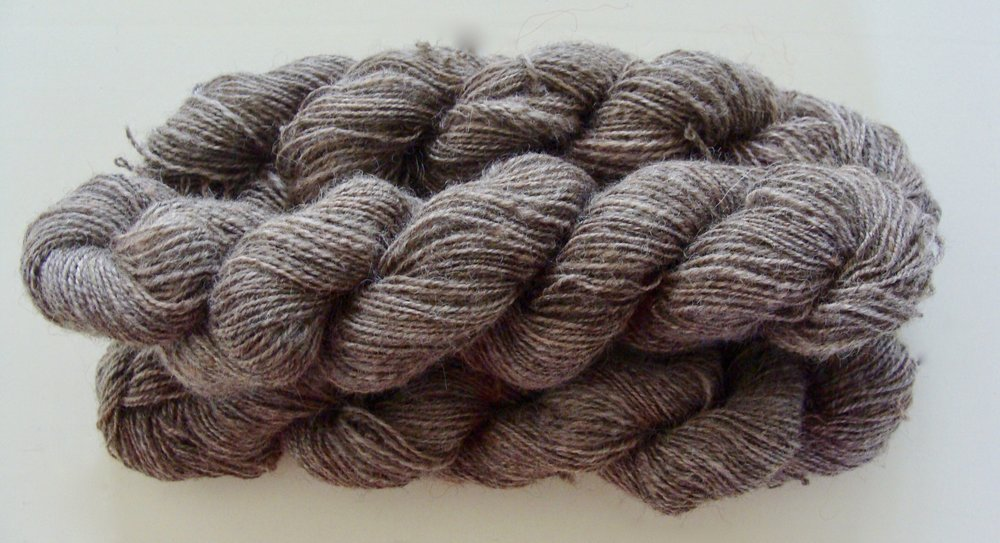 2 ply Romney wool handspun yarn