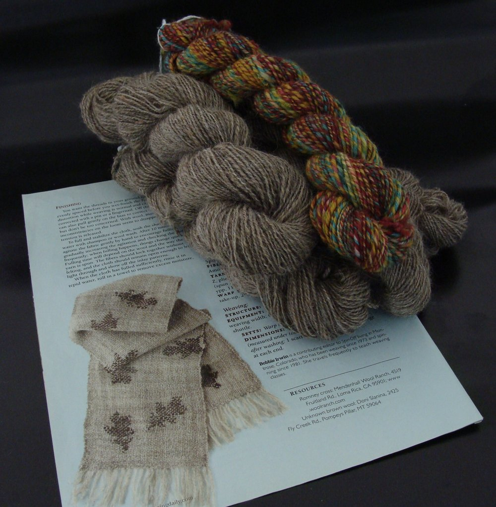 Handspun Yarn for Weaving Project