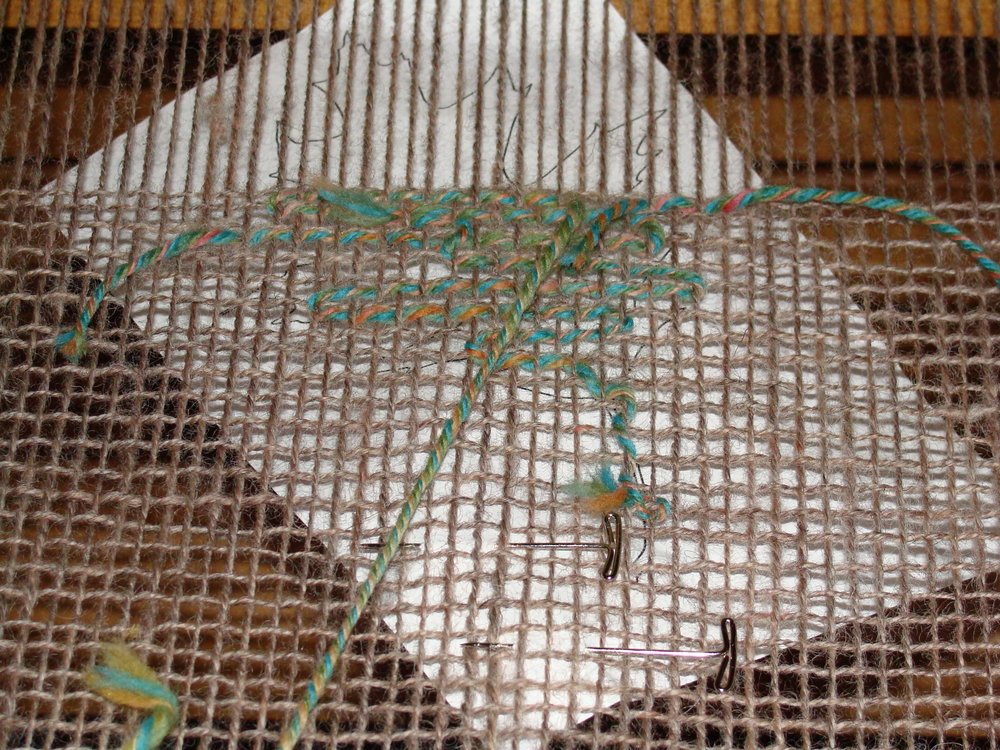 weaving leaf inlay