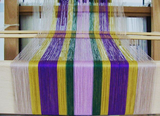 50/3 cotton thread warp...call me crazy!