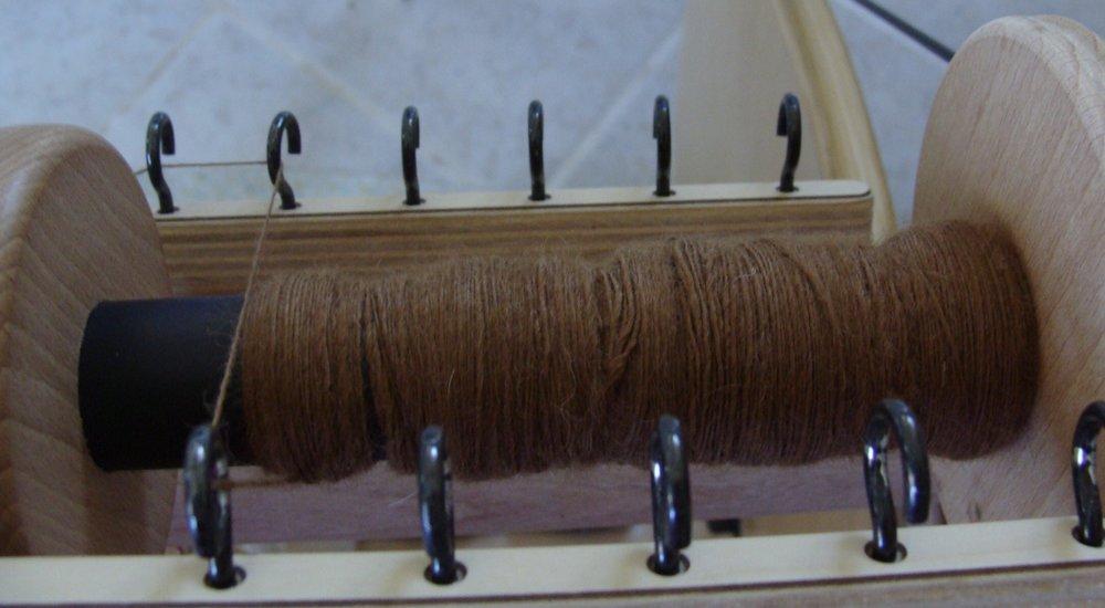 handspun alpaca yarn single