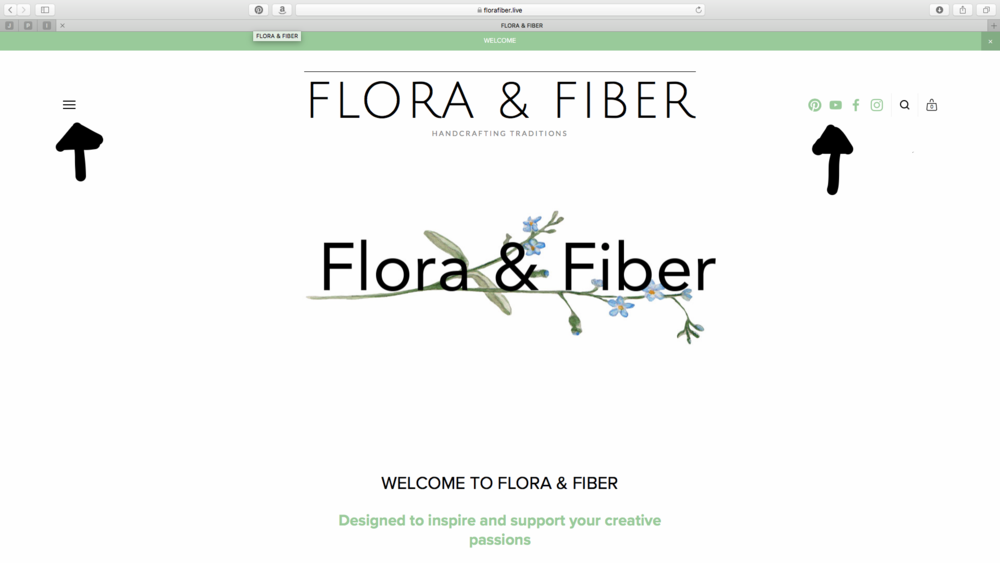 Flora & Fiber Home page