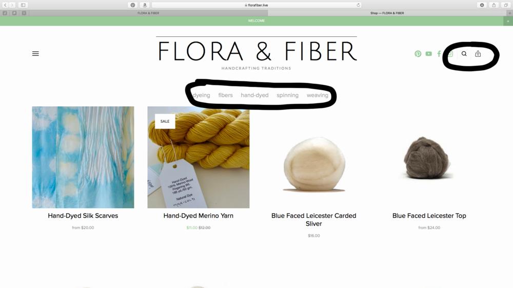 Flora & Fiber website