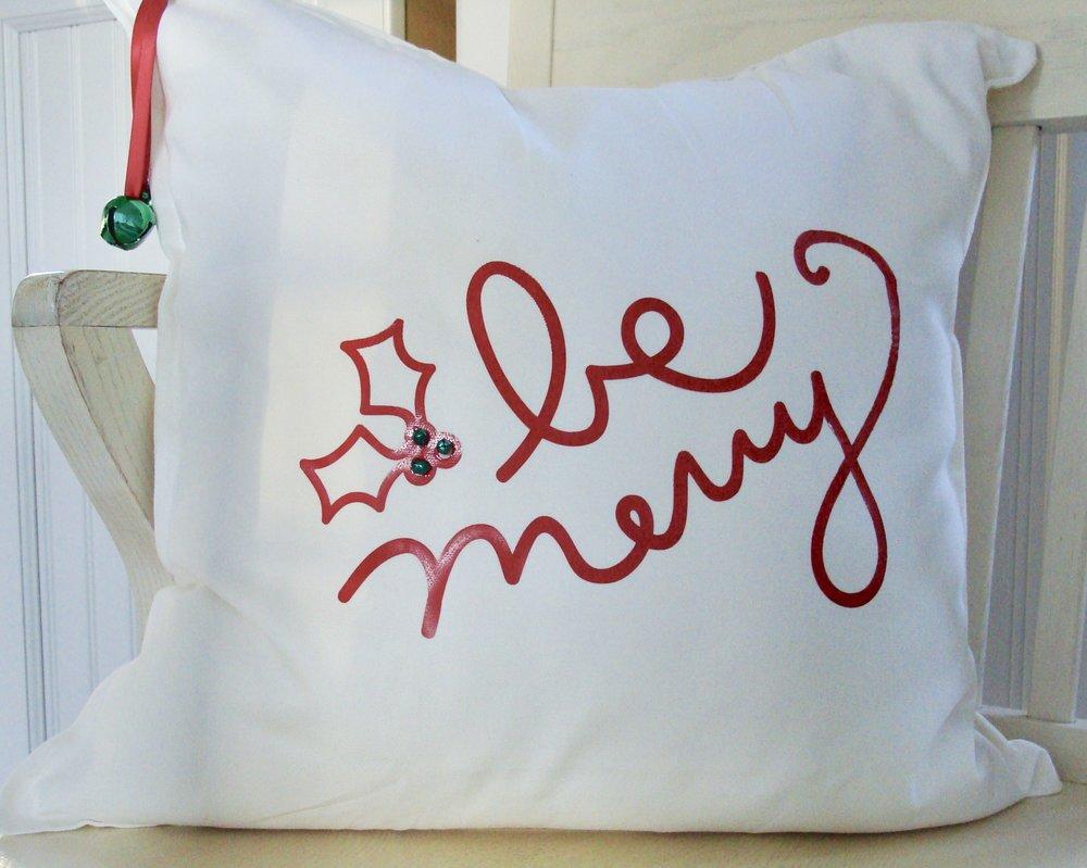 handmade Christmas pillow
