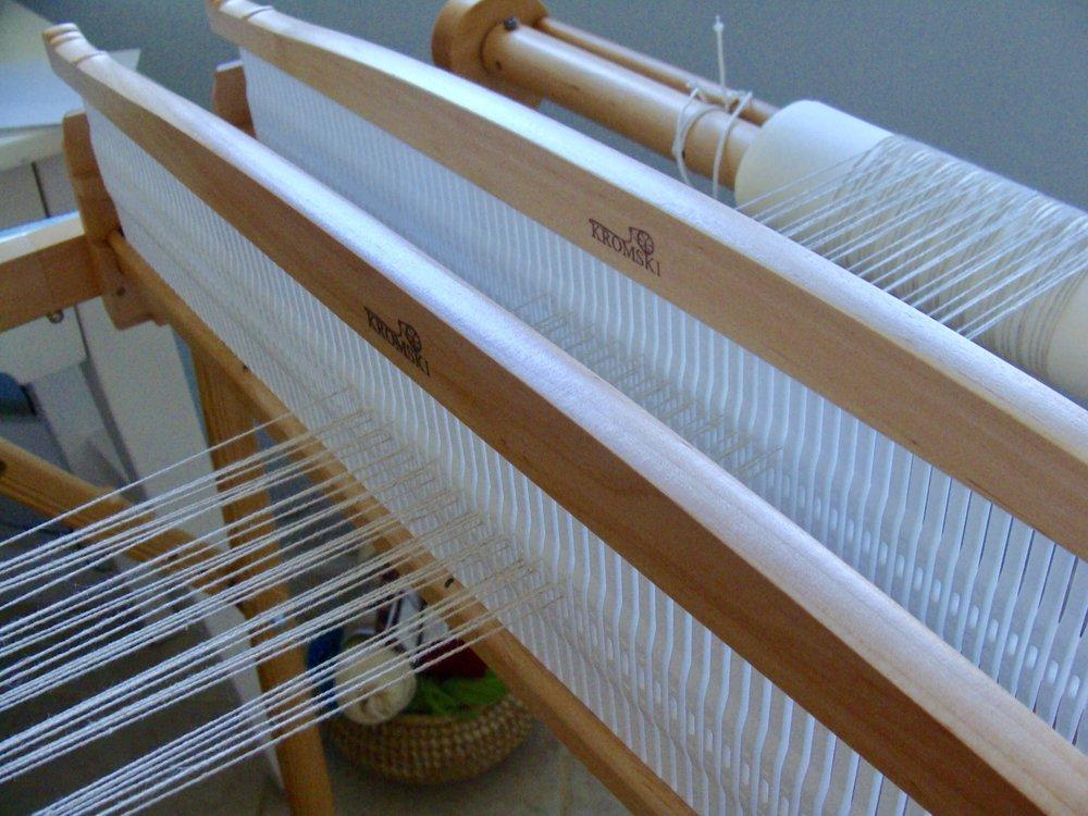 Kromski rigid heddle loom with double heddles