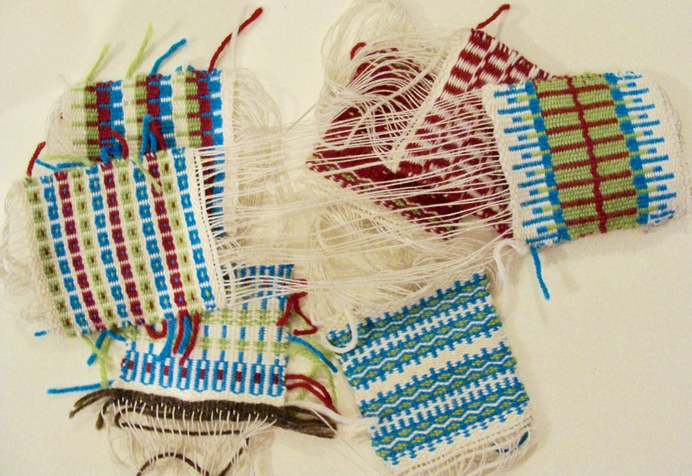 handwoven krokbragd coasters
