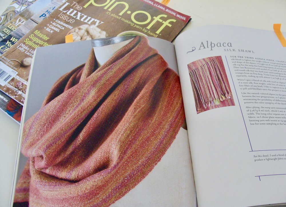 Alpaca-Silk handwoven shawl project