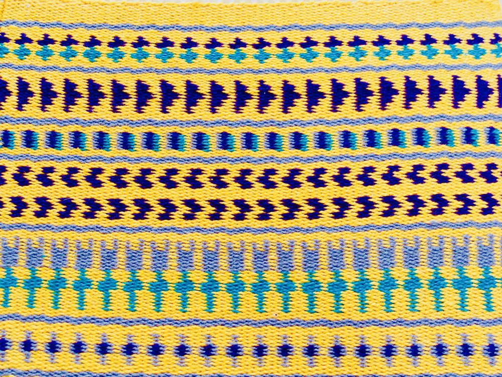 weft-faced pattern weaves Sampler III Twill: 2/2