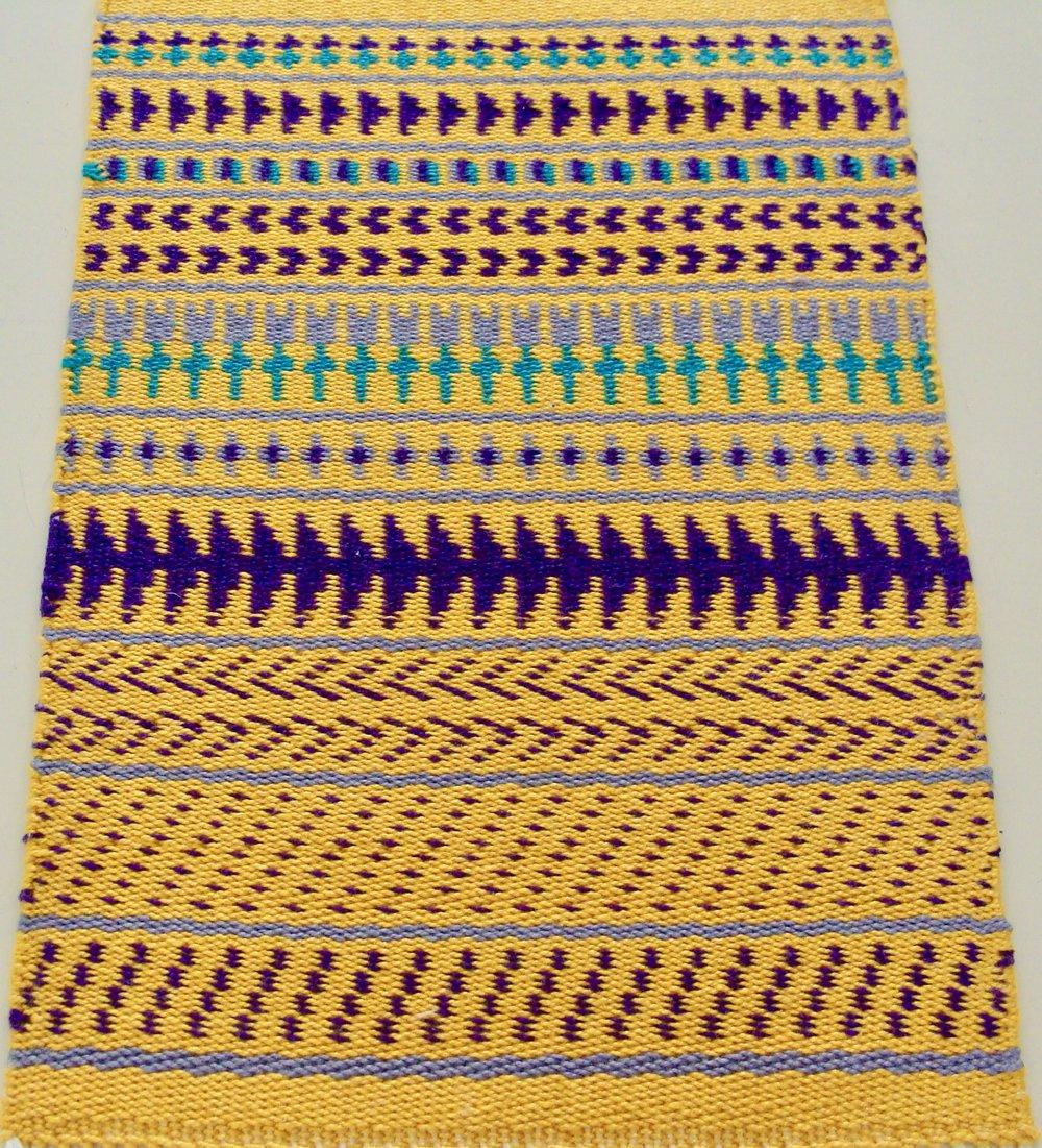 Pattern Weave Sampler III Twill 2/2