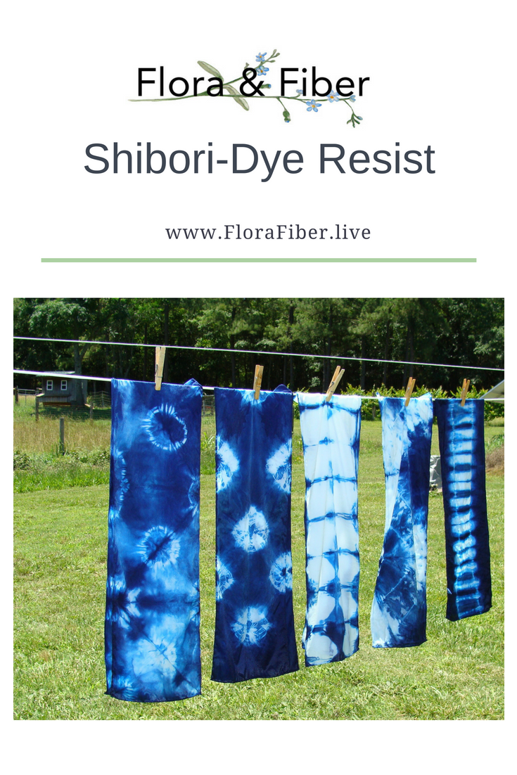 Shibori-Dye Resist blog tutorial