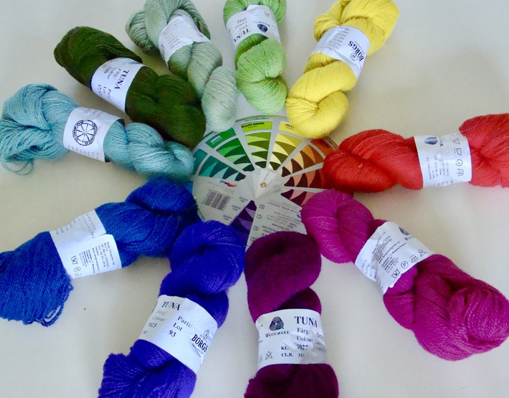 Wool Yarn Color Wheel