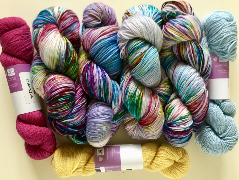hand-dyed yarn Flora & Fiber