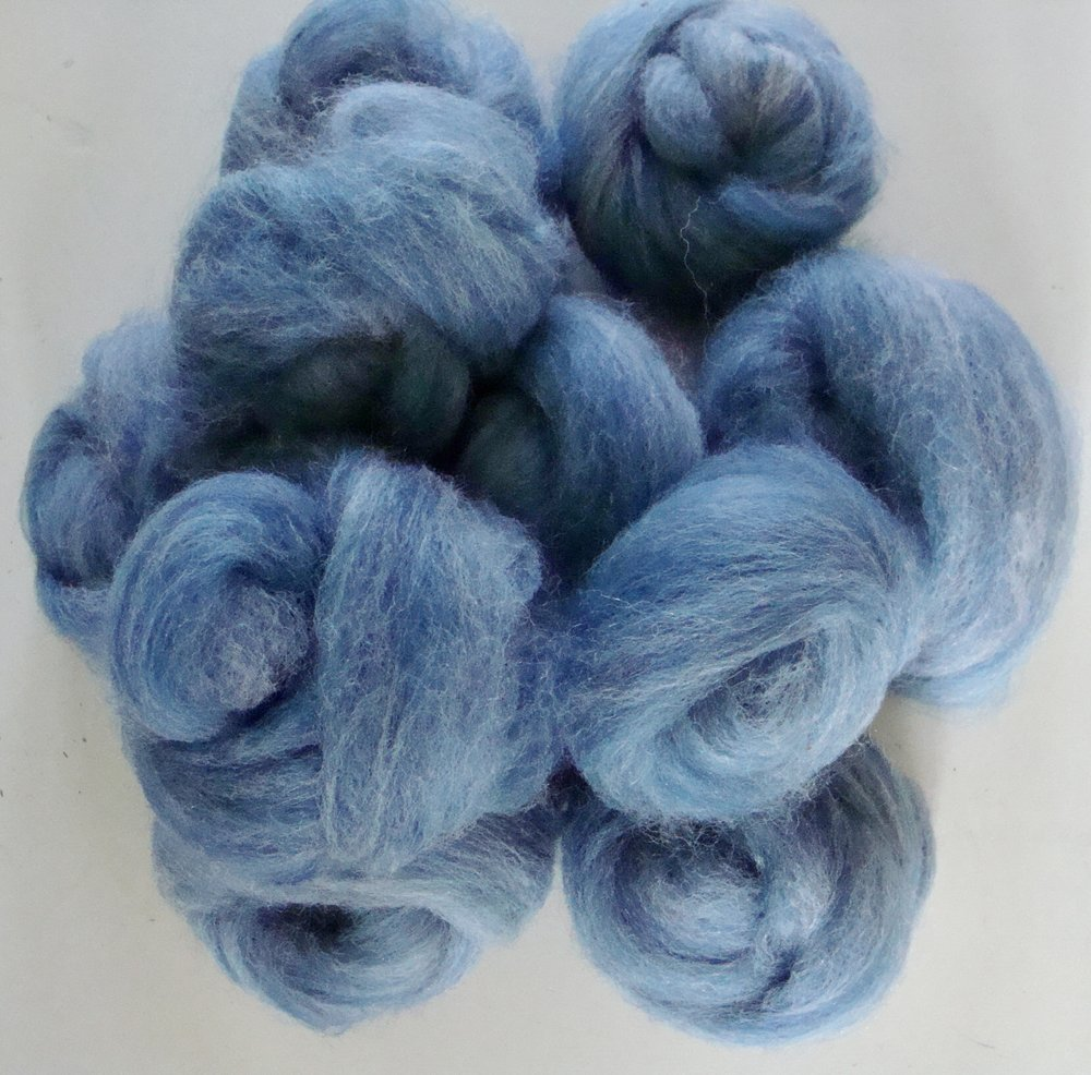 blended merino and alpaca roving
