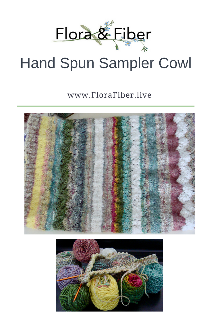 Hand Spun Sampler Cowl