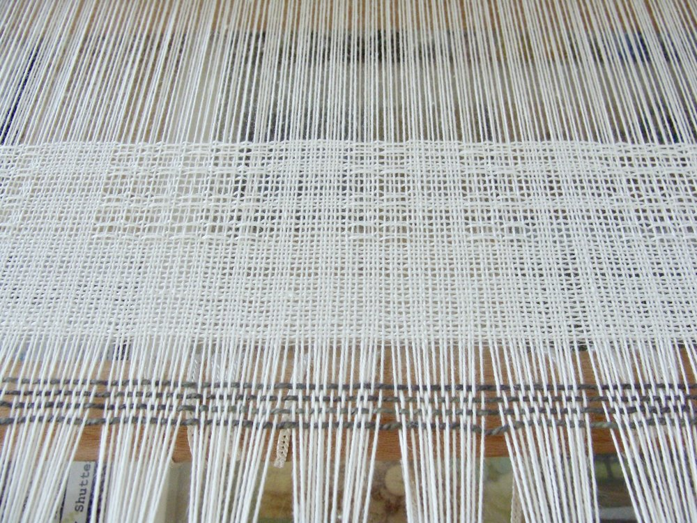 weaving Swedish Lace towels on Jane loom