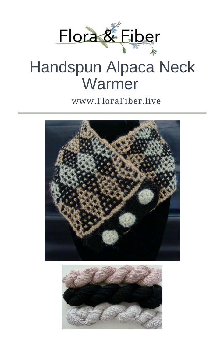 Handspun Alpaca Neck Warmer Pinnable