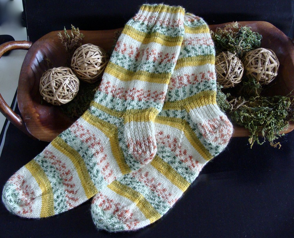 First pair of Hand-knit socks