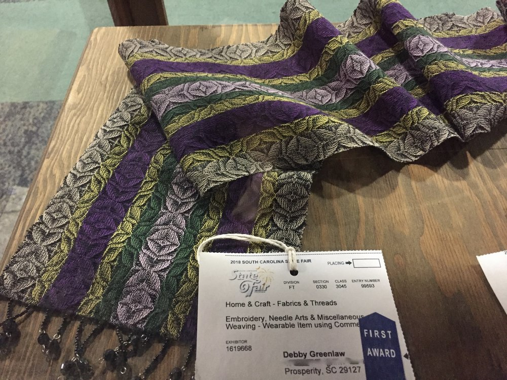 First Place SC State Fair Advancing Twill Scarf