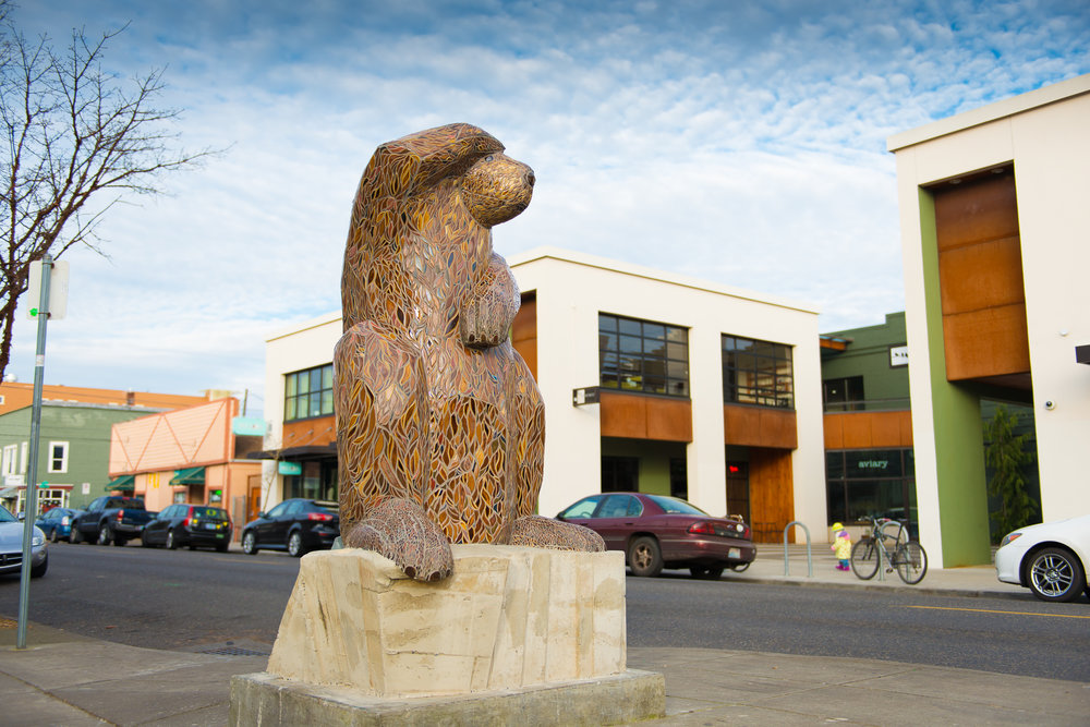 """the noble architect"" by Ruth frances greenberg. public art in portland, oregon."
