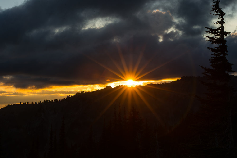 sunset at goat rocks, washington