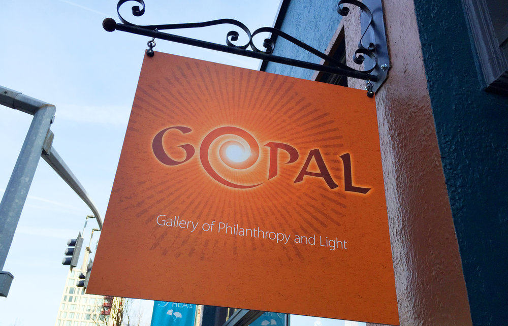 sign for an art gallery, pearl district, portland, oregon