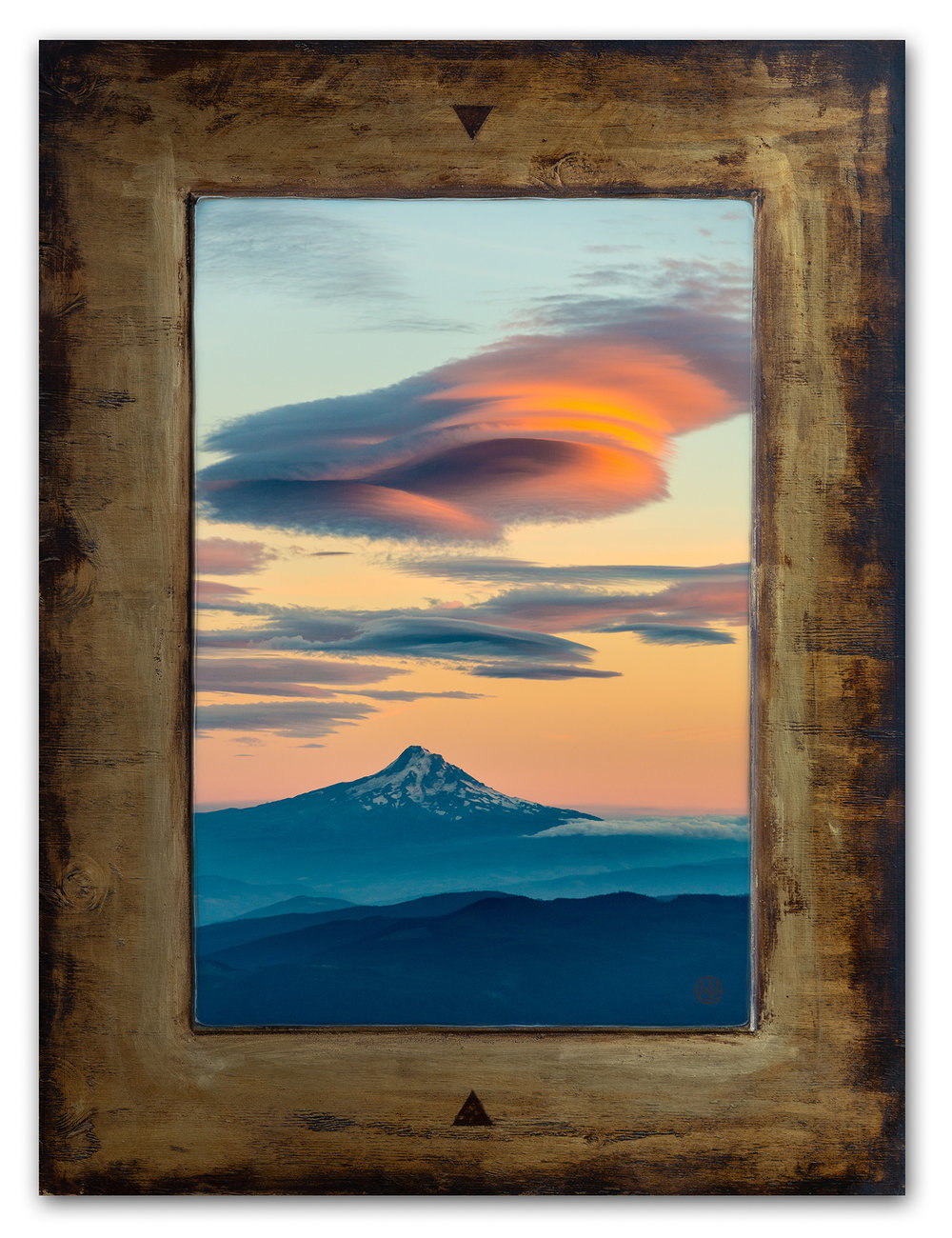 sunset cloud (Mt. hood from Mt adams),  36 x 48 inches