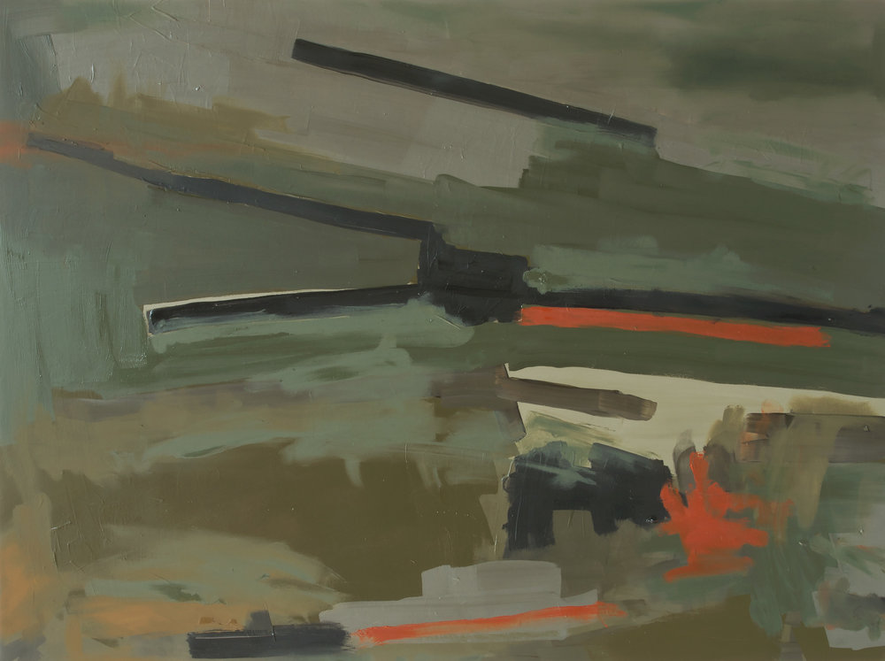 Airfield AF-17-02 , Oil on panel, 2017, 18 x 24 inches (45.7 x 60.9 cm)