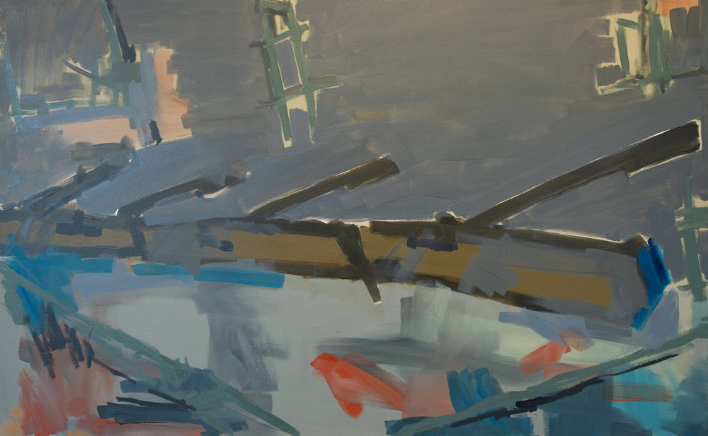 Tanks TK-18-17, 2018, Oil on canvas, 32 x 52 in, 81.2 x 132 cm