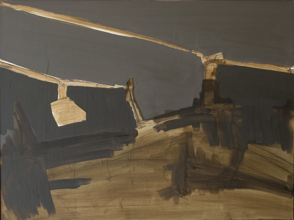 Helicopters HE-18-09, Oil on panel, 18 x 24 in, 45.7 x 60.9 cm