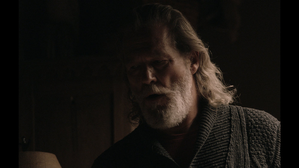 Jeff Bridges lit solely by an early prototype,