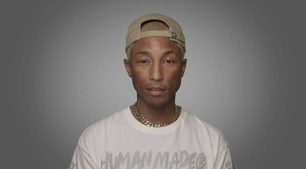 Pharrell looks great with a single Redback