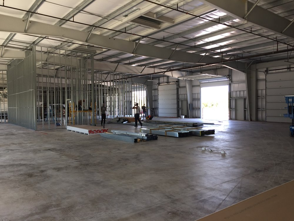 Permits issued and the build-out has begun!
