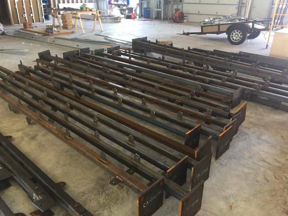 Steel Frames, begging for Erection...