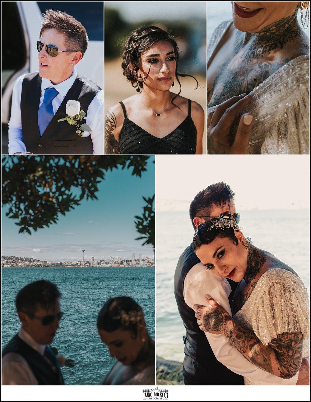 the bridal parties at alki beach